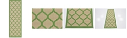 "Bridgeport Home Pashio Pas5 Green 2' 2"" x 6' Runner Area Rug"