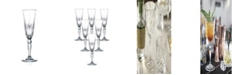 Lorren Home Trends Melodia Crystal Champagne Glass - Set of 6
