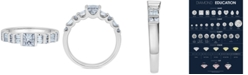 Macy's Diamond Princess-Cut Engagement Ring (1 ct. t.w.) in 14k White Gold