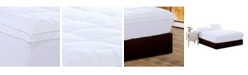 Ac Pacific Christies Home Living Square Queen Quilted Accent Piping Mattress Pad with Fitted Mattress Cover
