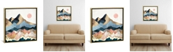 """iCanvas Golden Peaks by Spacefrog Designs Gallery-Wrapped Canvas Print - 26"""" x 26"""" x 0.75"""""""