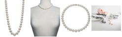 """Belle de Mer Cultured Freshwater Pearl Graduated 17-1/2"""" Strand Necklace (11-14mm) in 14k Gold, Created for Macy's"""