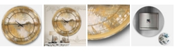 Designart Glam Oversized Metal Wall Clock