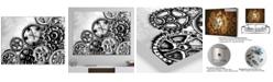 Designart Oversized Tropical Metal Wall Clock