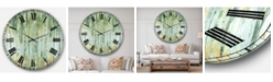 Designart Modern Farmhouse Oversized Metal Wall Clock
