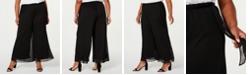 Alex Evenings Plus Size Mesh Waist-Tie Pants