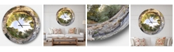 Design Art Designart Oversized Landscapes Round Metal Wall Clock