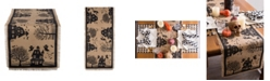 Design Imports Haunted House Burlap Table Runner