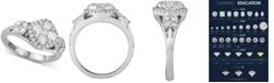 Macy's Diamond Cluster Ring (1-1/4 ct. t.w.) in 14k White Gold