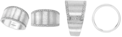 EFFY Collection EFFY® Diamond Satin Finish Statement Ring (1/8 ct. t.w.) in Sterling Silver