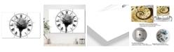 "Designart Rose 10 X-Ray Large Cottage 3 Panels Wall Clock - 23"" x 23"" x 1"""