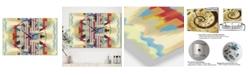 "Designart Abstract II Single Large Mid-Century 3 Panels Wall Clock - 23"" x 23"" x 1"""