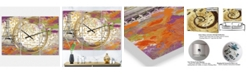 "Designart with Love From Paris 1 Large Traditional 3 Panels Wall Clock - 23"" x 23"" x 1"""