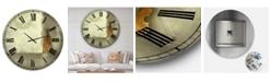 "Designart Resting Notes Oversized Cottage Wall Clock - 36"" x 28"" x 1"""