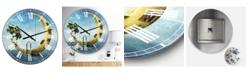 "Designart Home Sweet Moon Large Modern Wall Clock - 36"" x 28"" x 1"""