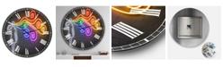 "Designart the Dark Side of the Mind Large Modern Wall Clock - 23"" x 23"" x 1"""