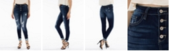 Kancan Gemma High Rise Ankle Skinny with Distress Jeans