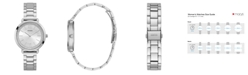 GUESS Women's Silver-Tone Stainless Steel Watch, 38mm