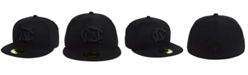 New Era North Carolina Tar Heels Core Black on Black 59FIFTY Fitted Cap
