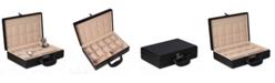 Bey-Berk Ten Watch Storage Box Briefcase with Handle and Combination Lock
