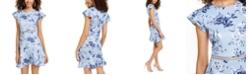 City Studios Juniors' Flounce-Hem Fit & Flare Dress