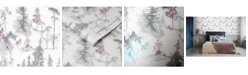Graham & Brown Mystical Forest Lilac Wallpaper