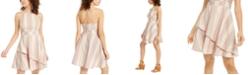 Speechless Juniors' Striped Asymmetrical Dress