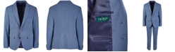 Lauren Ralph Lauren Big Boys Classic-Fit Stretch Blue/Brown Mini-Check Suit Jacket
