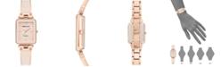 Anne Klein Women's Diamond Accent Blush & Rose Gold-Tone Bangle Bracelet Watch 22x34mm