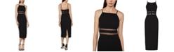 BCBGMAXAZRIA Satin Crepe Midi Dress
