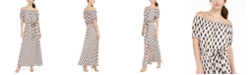 INC International Concepts INC Off-The-Shoulder Burnout Maxi Dress With Sash, Created for Macy's
