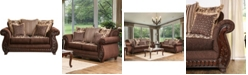 Furniture of America Wunderlich Upholstered Love Seat