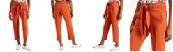 Bar III Tie-Waist Cropped Dress Pants, Created for Macy's