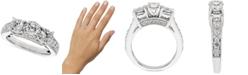 Macy's Diamond Trinity Ring (1-1/2 ct. t.w.) in 14k White Gold