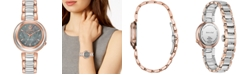 Citizen Citizen Eco-Drive Women's Anna Diamond-Accent Two-Tone Stainless Steel Bracelet Watch 31mm