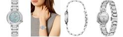 Citizen Citizen Eco-Drive Women's Ariel Diamond-Accent Stainless Steel Bracelet Watch 30mm