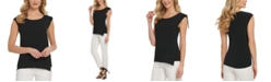 DKNY Chiffon-Trim Sleeveless Top