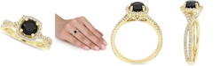 Macy's Diamond Halo Engagement Ring (1-1/2 ct. t.w.) in 14K Yellow, White or Rose Gold