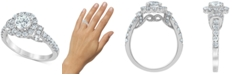 Macy's Diamond (1-3/8 ct. t.w.) Halo Engagement Ring in 14k White Gold