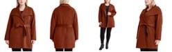 Tahari Plus Size Ella Double Face Wrap Coat, Created for Macy's