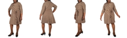 Robbie Bee Plus Size Striped Dress