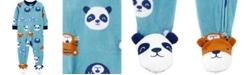Carter's Baby Boy  1-Piece Animal Fleece Footie PJs