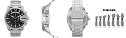 Diesel Men's Chronograph Mega Chief Stainless Steel Bracelet Watch 59x51mm DZ4308