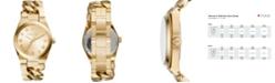 Michael Kors Women's Channing Gold-Tone Stainless Steel Bracelet Watch 38mm