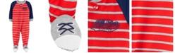 Carter's Carters Baby Boy 1-Piece Striped Varsity Poly Footie PJs
