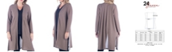 24seven Comfort Apparel Women's Plus Size Knee Length Cardigan