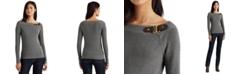 Lauren Ralph Lauren Cotton Ballet-Neck Sweater