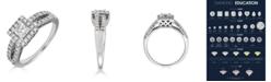 Macy's Diamond Princess Cut (1 ct. t.w.) Ring in 14K White Gold