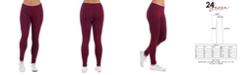 24seven Comfort Apparel Women's Ankle Length Stretch Leggings