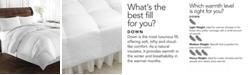 Lauren Ralph Lauren Heavyweight White Goose Down Twin Comforter, 500 Thread Count 100% Cotton Cover